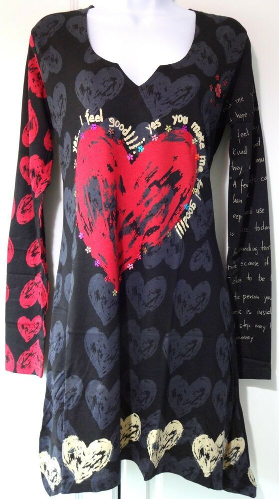 7292cec2d0d New Desigual Ladies Top Tunic REGINA Size S Full Sleeves Black #fashion # clothing #shoes #accessories #womensclothing #tops (ebay link)