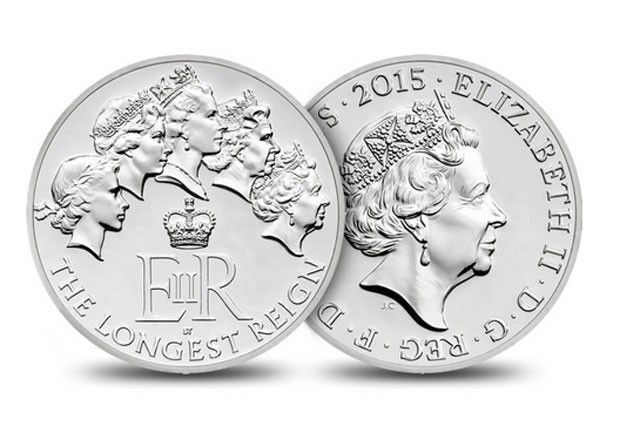 Moeda Celebra o Mais Longo Reinado da Inglaterra: Moeda comemorativa da Rainha Elizabeth II