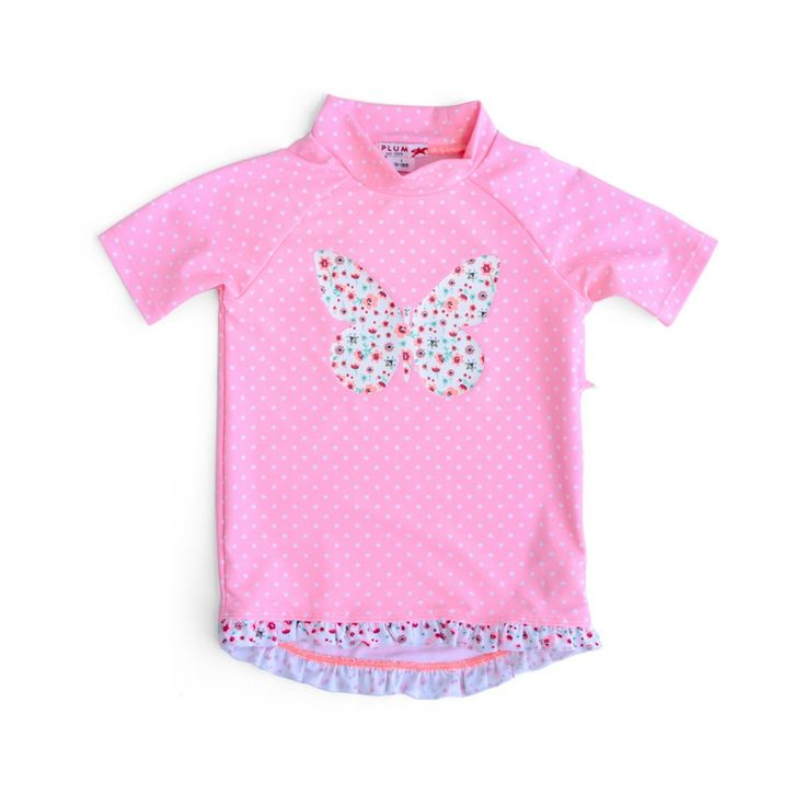 Ditsy spot short sleeve rash vestFeatures:• 50+ UV Protection• chlorine resistant• frill detailSizing:00 – 3-6 months0 – 6-12 months1 – 12-18 months2 – 2 year old, 3 – 3 year old4 – 4 year old, 5 – 5 year old6 – 6 year old, 7 – 7 year old