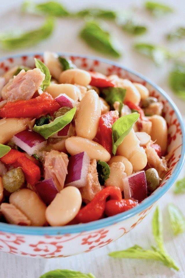 Cannellini Bean Tuna Salad Recipe Cooking On The Weekends Recipe Salad Recipes Tuna Salad Recipe Cooking Dried Beans