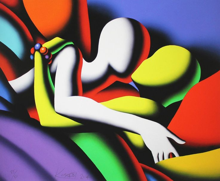 LOT 3 MARK KOSTABI Going under Cover [2014] Giclée on hand made cotton paper 60.5 × 73 cm (23.8 × 28.7 inch) Estimate €350 - €550 Starting price €300  http://lavacow.com/current-auctions/lavacow-autumn-auction/going-under-cover.html
