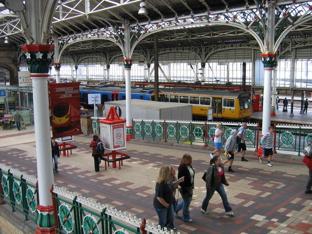 Inside Preston Railway Station