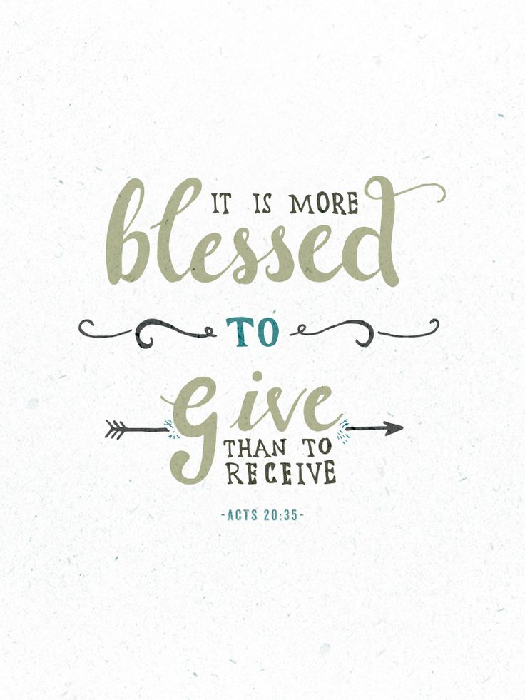 Free printable // Acts 20:35 // via theversesproject.com // by Chris Wright