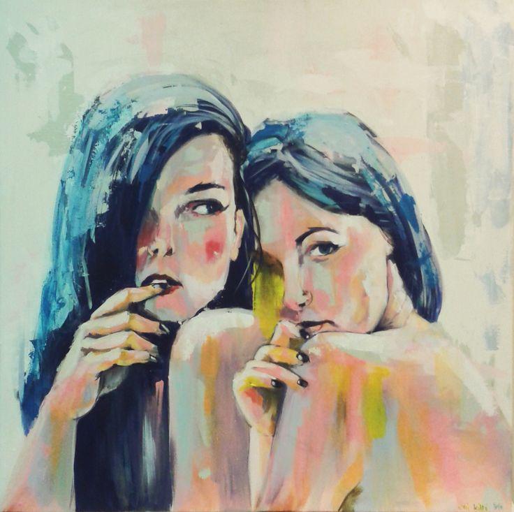 5# Acrylic on canvas 92x92cm by Olli Kilpi, 2014