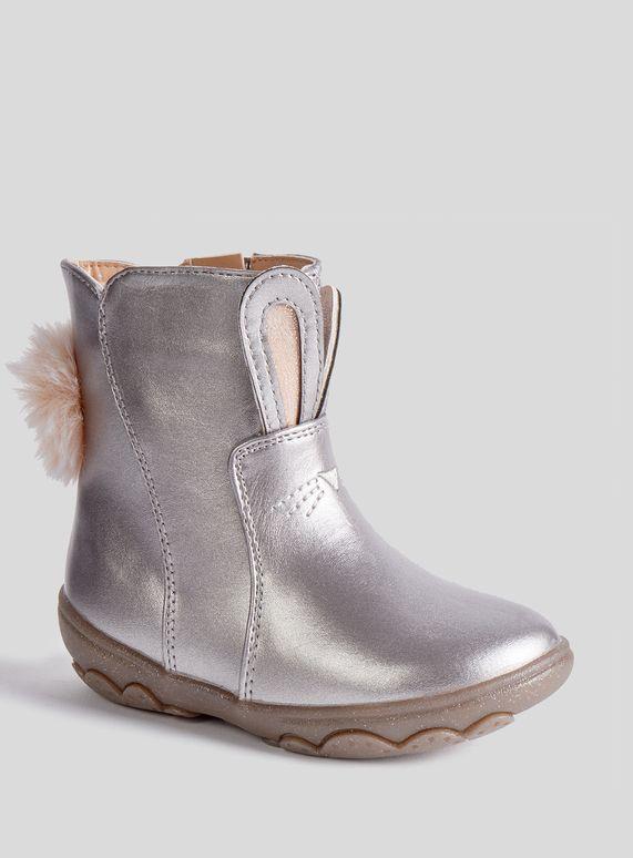 Silver Bunny Bumper Boots (4 infant