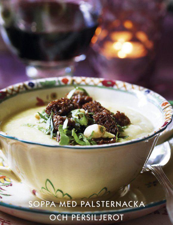 Soppa med palsternacka och persiljerot