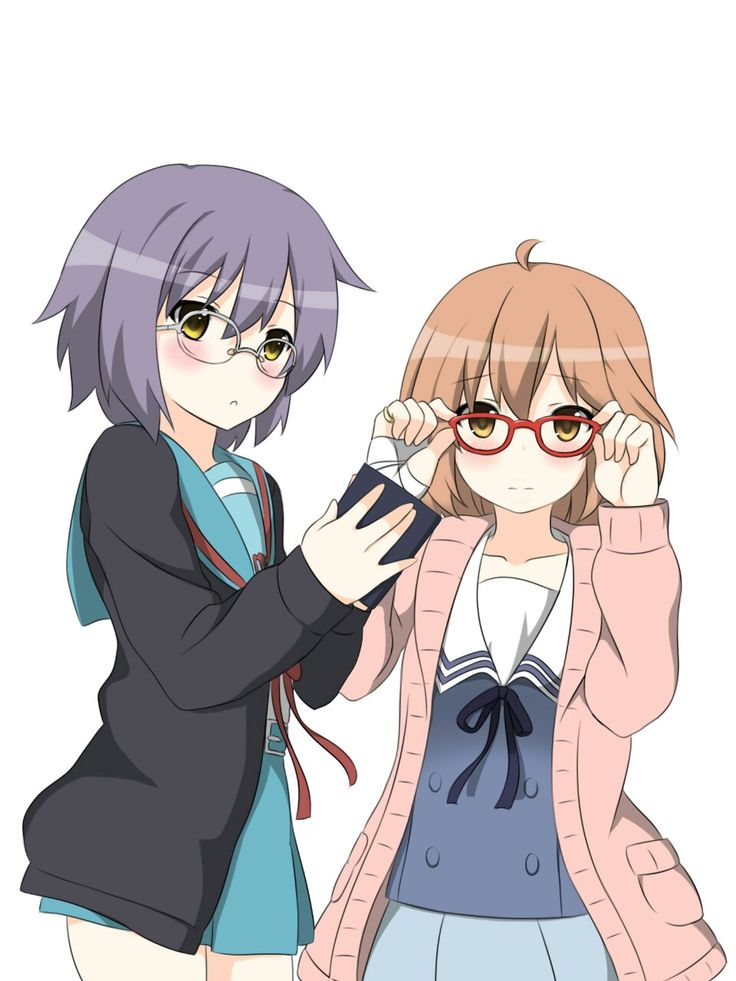 "alakanyan: "" Jackets and glasses are a ridiculously cute combo~! """