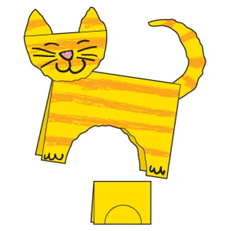 Little fingers get a workout coloring & tearing this tabby cat from a single sheet of paper. http://www.theeducationcenter.com/editorial_content/terrific-tabby-cat Meow!