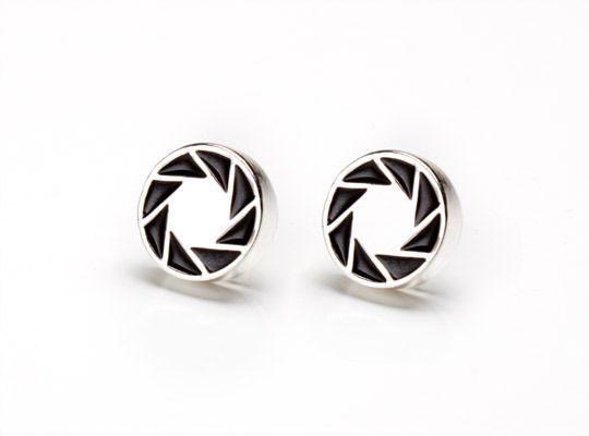 Portal 2 Aperture Logo Earrings