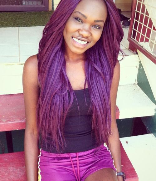 Purple Hair On African Americans Purple Hair Color With