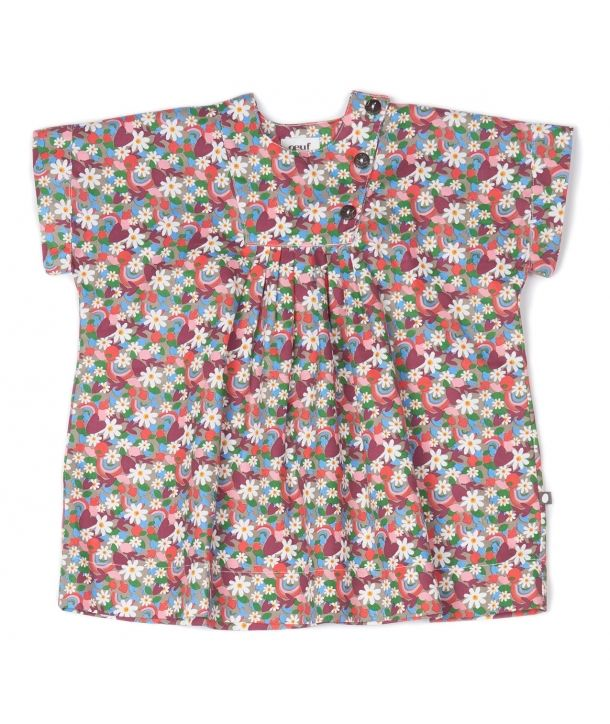 Dress Plastron flower print