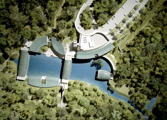 CRYSTAL BRIDGES MUSEUM OF AMERICAN ART. Architects: Safdie Architects; location: Bentonville, Arkansas; area: 93.000 sq ft; client: Crystal Bridges Museum of American Art