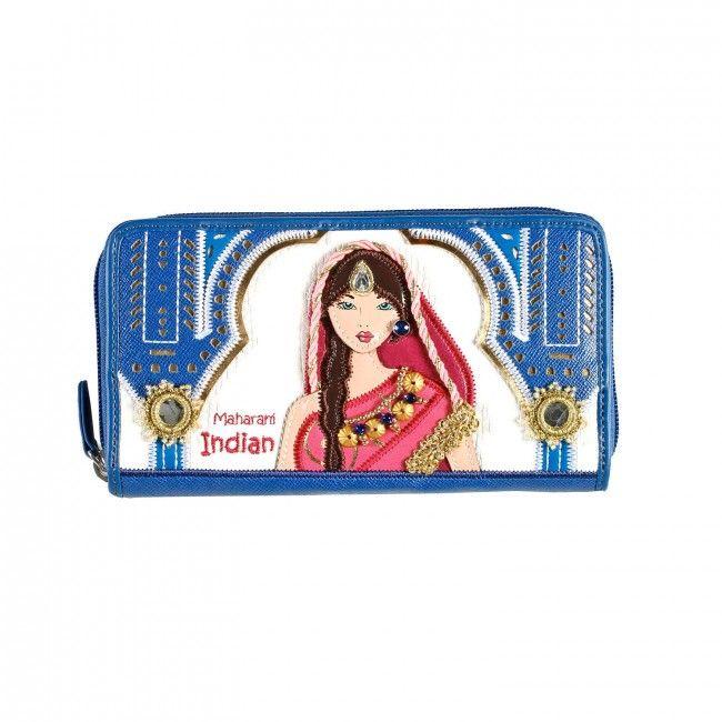 Portafoglio Braccialini Cartoline India #portafogli #wallets #braccialini