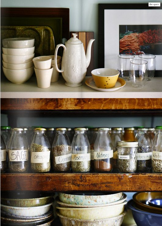 labeled jars // spices
