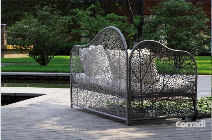 Linea Foglia Corradi - divanetto e tavolino #arredo #giardino