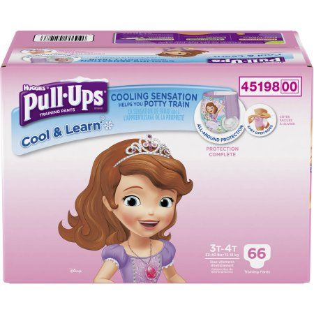 Huggies Pull-Ups Girls' Cool & Learn Training Pants, Size 3T/4T (Choose Pant Count)