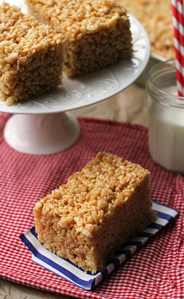 Salted Caramel Brown Butter Rice Krispie Treats - Joanne Eats Well ...