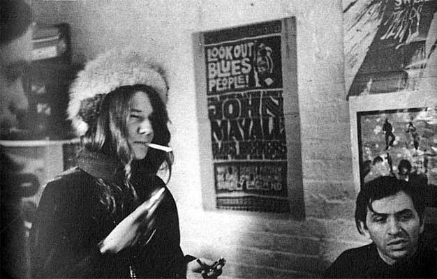 Janis Joplin and Bill Graham at the Fillmore.