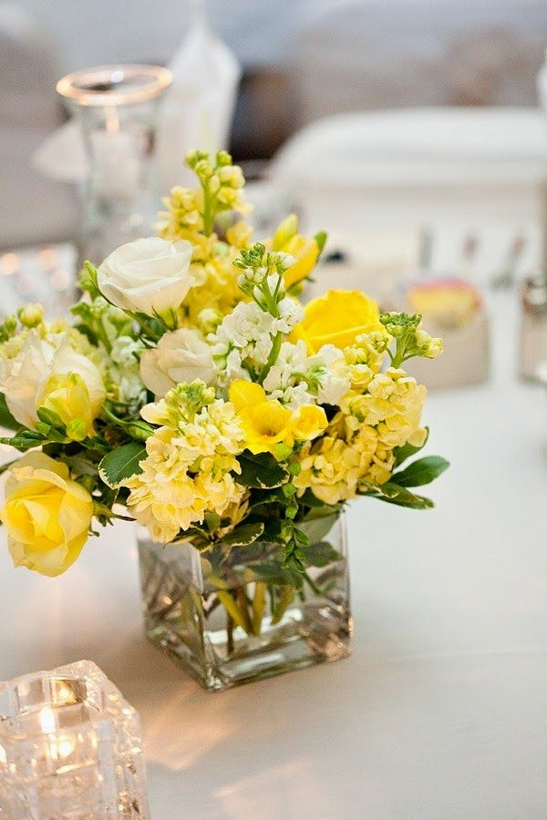 Lovely Yellow Wedding Bouquets and Centerpieces