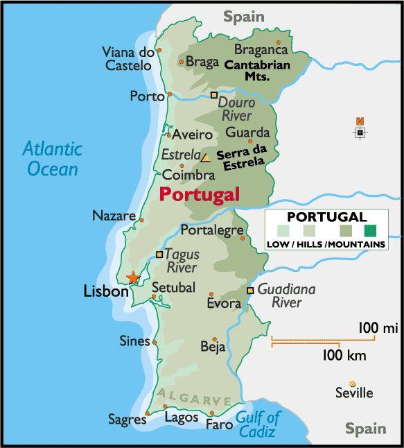 Best Portugal Images On Pinterest - Portugal map lisbon to algarve
