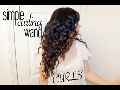 Simple Curling Wand Curls