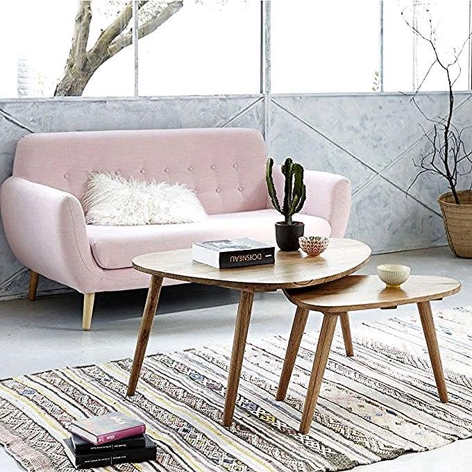 Table Basse Scandinave En Bois De Mindy Lot De 2 Naturel Bois Dessus Bois Dessous La Redoute In 2020 Furniture Coffee Table Home Decor