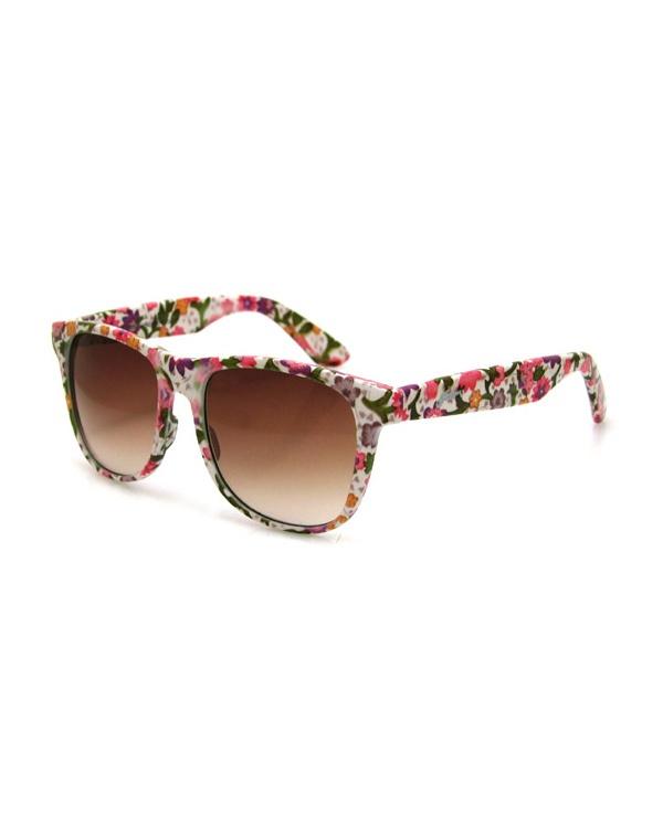 Dayz White Floral - Sunglasses - Accessories @BIRDMOTEL Store