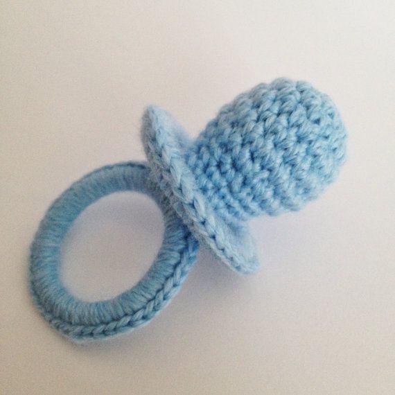 DIY PDF Patrón Chupete Amigurumi Crochet Ganchillo Sencillo Chupetero Portachupete bebe recien nacido