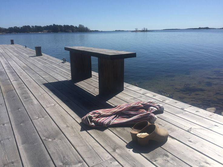 Jetty for those morning swims with DIY bench
