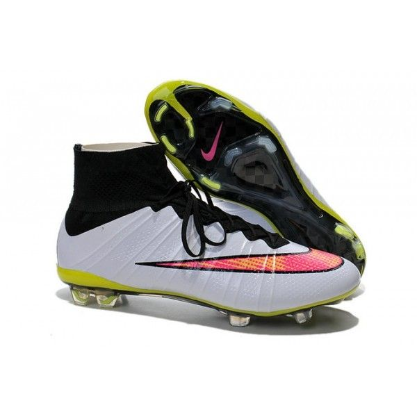 2015 Nike Mercurial Superfly Mens Firm-Ground Soccer Cleats White Pink Black