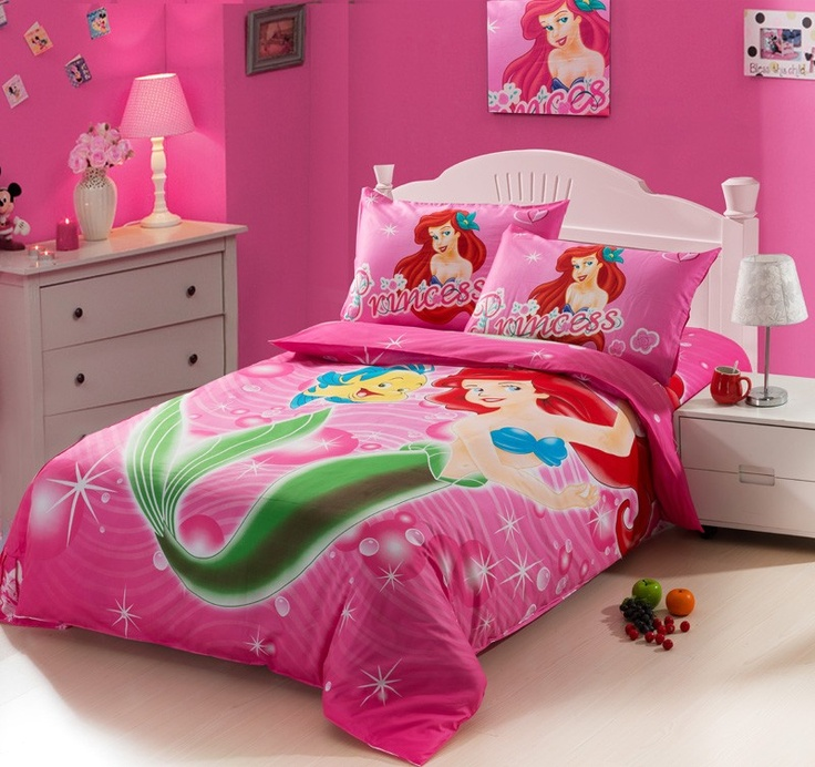 Mermaid Princess Pink Kids Duvet Cover Bedding Sets