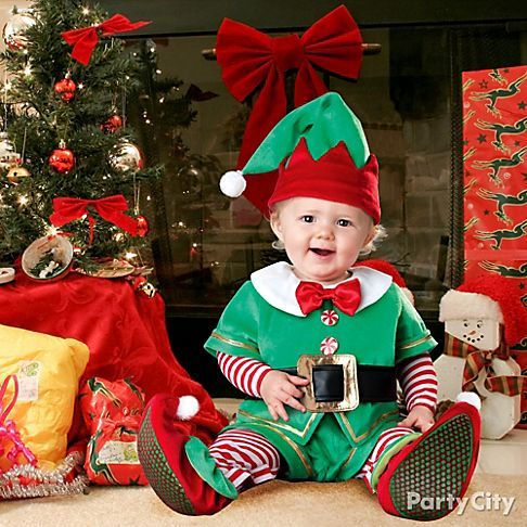 Santa's littlest elf! A comfy kids Christmas costume is just right for holiday photos and parties. Click to shop more ideas!