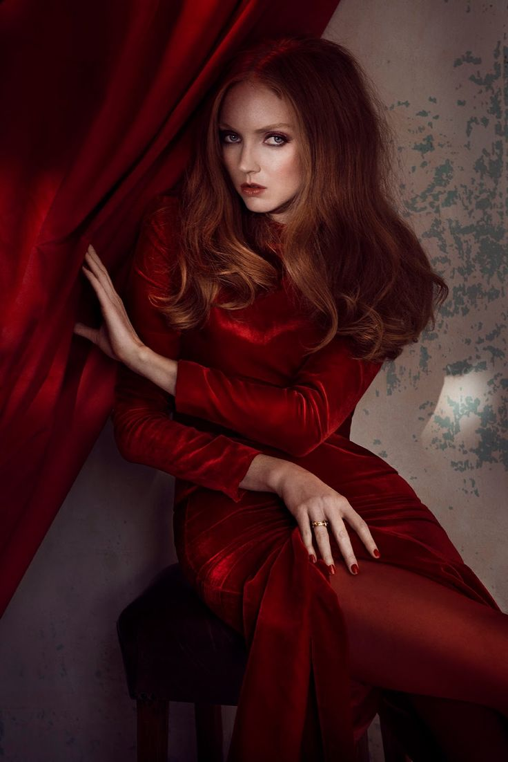 visual optimism; fashion editorials, shows, campaigns & more!: la fatina in rosso: lily cole by signe vilstrup for glamour italia december / january 14.15