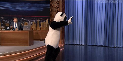dancing jimmy fallon tonight show nbc hashtag hashtag the panda #gif from #giphy