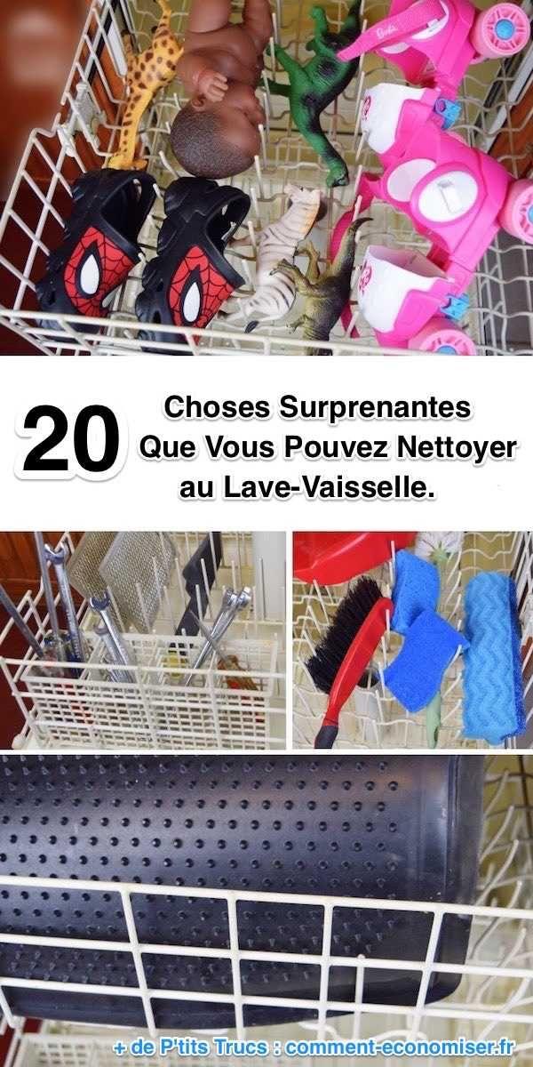 20 Choses Surprenantes Que Vous Pouvez Nettoyer au Lave-Vaisselle.