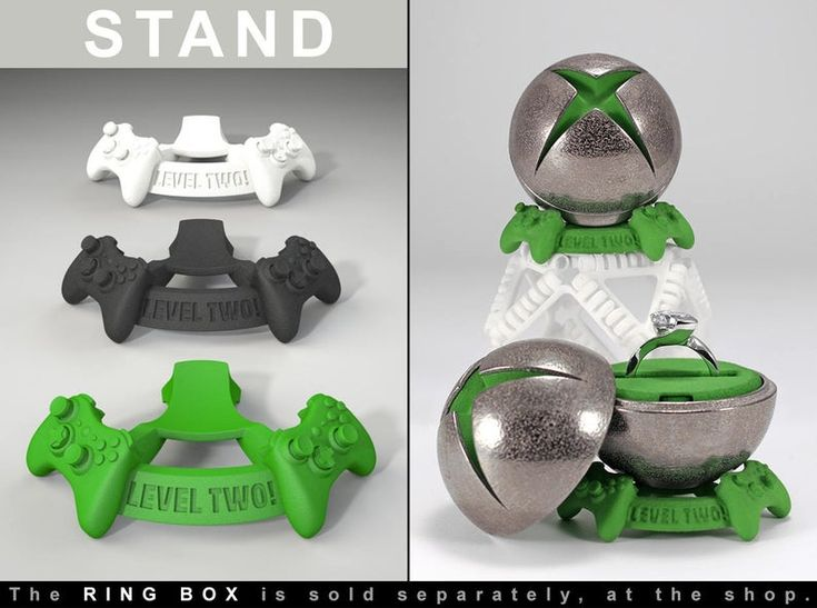 "STAND for ""X Ring BOX"" – Gamer Proposal and Engagement Ring Bearer Box – Geek Wedding Ring Case for any Xbox Playstation or Video Game Fan"