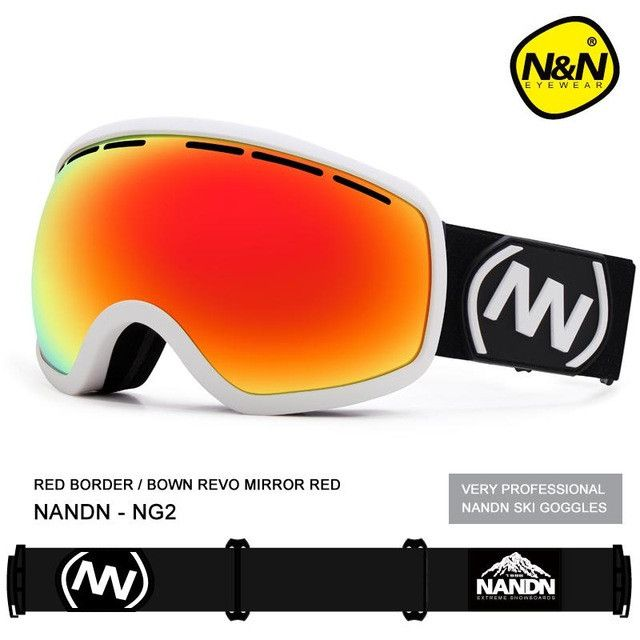 NG1/2 NG3 Nice Skiing Snowboarding Goggles Double Layer Ski Googles Men Women Spherical Ski Eyewear Can Hold Myopia Snow Glasses