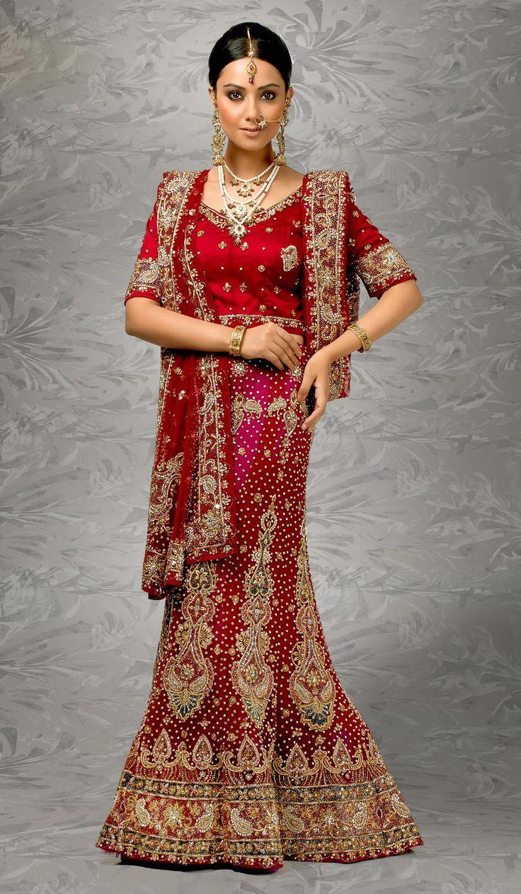 Full embroidered indian bridal lehenga choli style