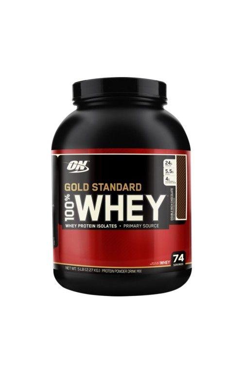 Optimum Gold Standard %100 Whey, düşük karbonhidrat, yağ oranı, izole whey protein oranı ve porsiyon başına 24 gr protein içeriği sayesinde dünyanın en popüler protein tozu, supplement ürünüdür. Hızlı emilir, kolesterol ve laktoz seviyeleri düşüktür. Optimum nutrition dünyanın en iyi supplement markalarından birisidir.