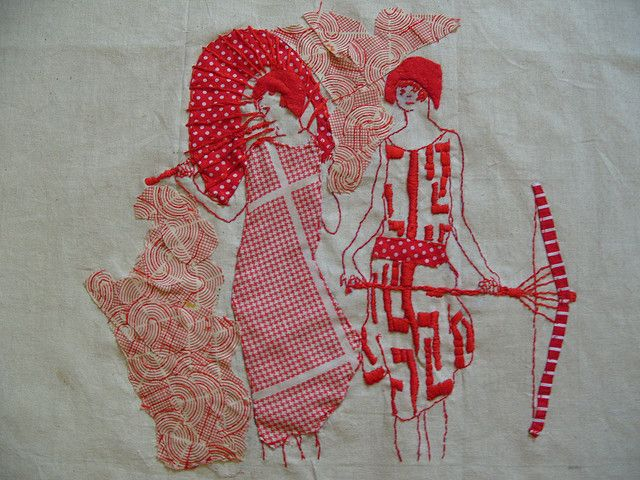 red work embroidery by Cate Lawrence polkadotrabbit.com on Flickr