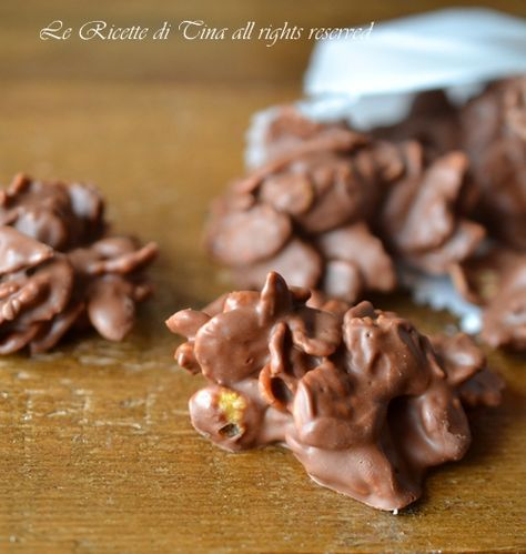 Rose del deserto alla nutella,dolcetti senza cottura facili e veloci