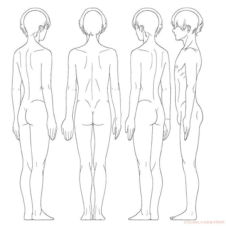 全身男性8面 | KITAJIMAのお絵かき研究所