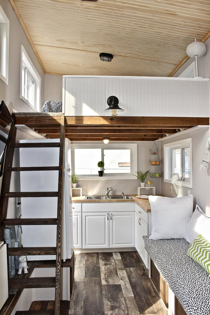 Chic Shack Lime Green -- A 241 square feet (loft included) tiny house in St. Peters, Missouri. | pinned by haw-creek.com