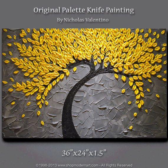 Large 36x24x1.5 Original Blossom Tree Painting by ShopModernArt, $169.99