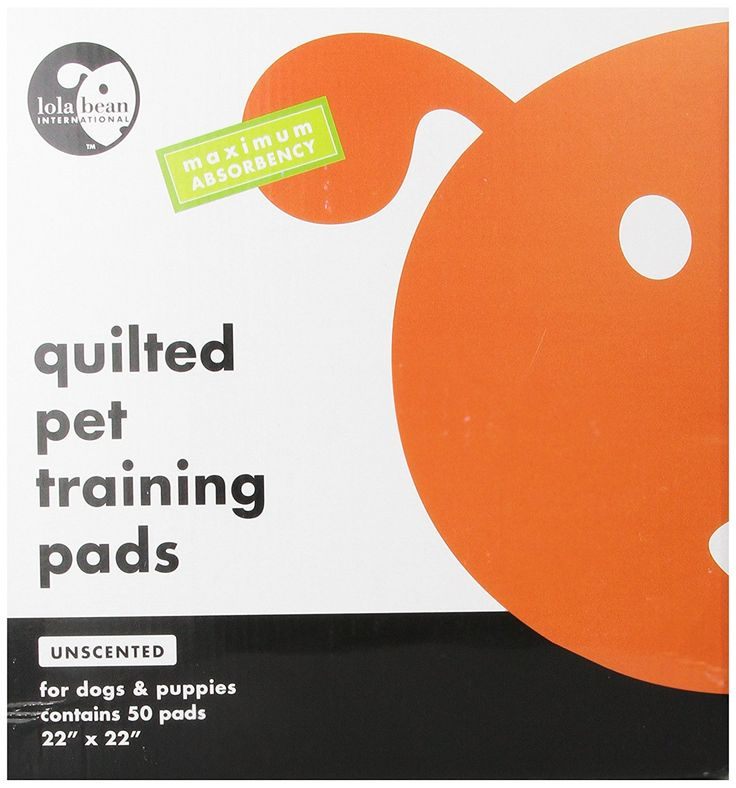 Lola Bean International 22-Inch by 22-Inch Quilted Pet Training Pads, Unscented, 50 Count * You can get additional details at the image link.