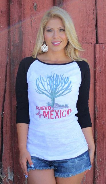New Mexico Baseball Tee by Original Cowgirl Clothing Co.