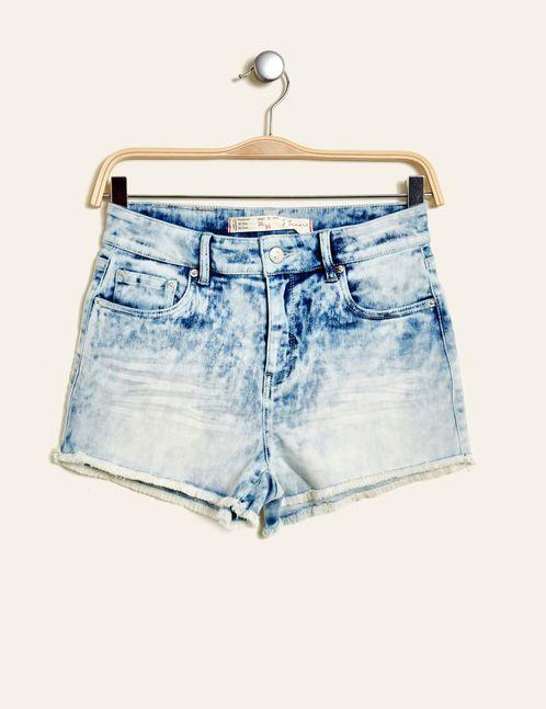 short en jean taille haute bleach