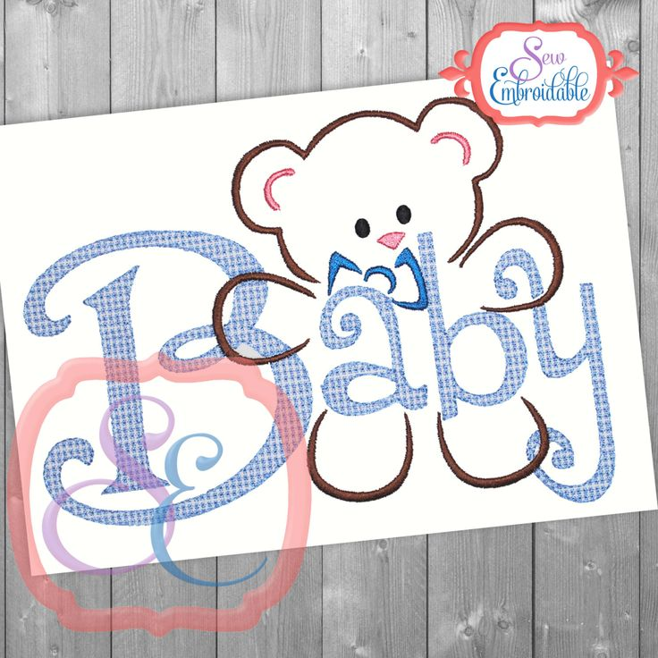 Machine Embroidery Design Baby Boy
