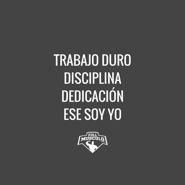 Esto es lo que me define: Trabajo duro y constante, disciplina y dedicación. #motivation #fitness