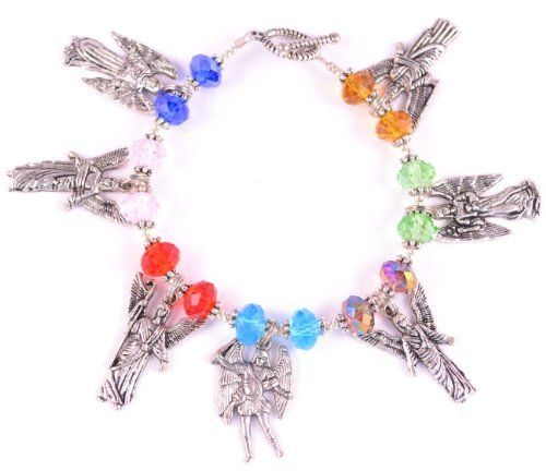 7 Archangels Bracelet Seven Archangels Colorful Catholic Charm Bracelet Rainbow Theresa's Designs. $25.00. Toggle Clasp. Colorful 8mm Angelic Crystals. The seven archangels are: Samuel, Uriel, Rafael, Miguel, Gabriel, Zadquiel, and Joliel.. 7 Archangel Charms. Save 44% Off!